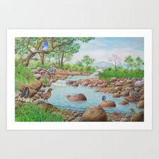 A Day of Forest(7). (the river ecosystem) Art Print