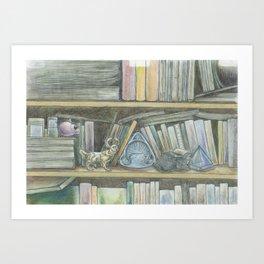 RHX Bookshelf Logo Art Print