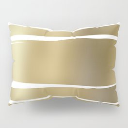 Get Naked, Gold, Striped, Abstract Pillow Sham