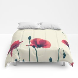 loose poppies Comforters