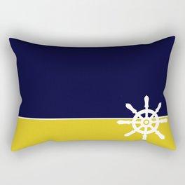 Nautical Wheel Rectangular Pillow