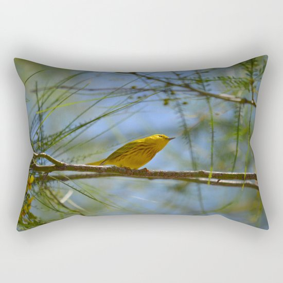 Warbler Rectangular Pillow