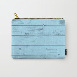 Blue Wood Texture Carry-All Pouch