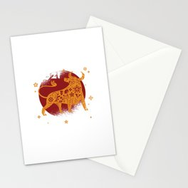2021 Chinese Zodiac Ox Animal Stationery Cards