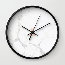 Forever Petal (White Rose) Wall Clock