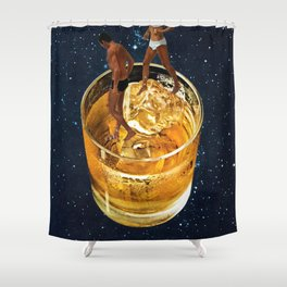 Space Date Shower Curtain