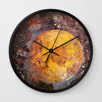 lunar Wall Clocks featuring Lunar  by Evan Hawley