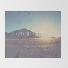 adventure awaits you ... Throw Blanket