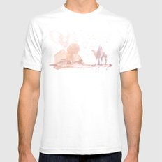 Watercolor landscape illustration_Egypt MEDIUM Mens Fitted Tee White