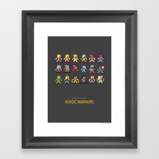 Mega MotU: Heroic Warriors Framed Art Print