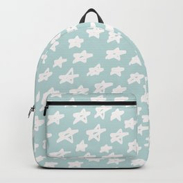 Stars on mint background Backpack