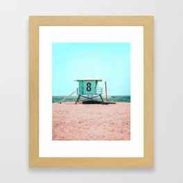 California Lifeguard Tower Framed Art Print