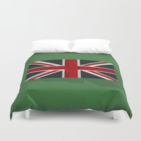 union jack Duvet Covers featuring Union by rob art | simple
