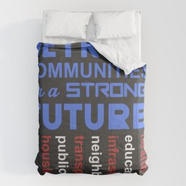 Invest in Detroit Communities for a Strong Future Comforters