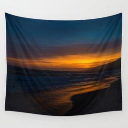 Golden Sunset Wall Tapestry