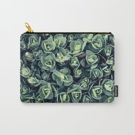 GREEN LEAVES PATTERN [plant nature photography] Carry-All Pouch