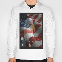 patriotic Hoodies featuring Patriotic America by D.A.S.E. 3