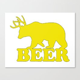 "Funny ""Beer"" Design T-Shirt Canvas Print"