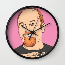 Louis CK With Sushi Wall Clock
