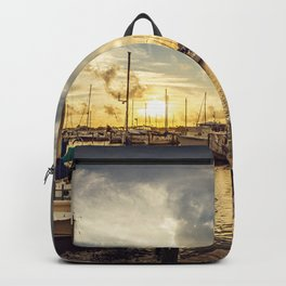 Summer Harbor Sunset Backpack