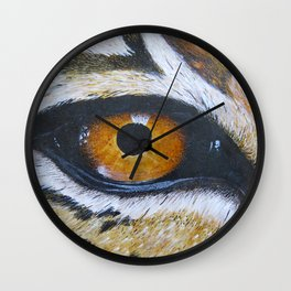 Eye See You Leopard Eye Wall Clock