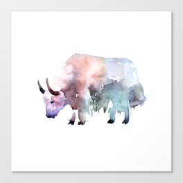 Wild yak / Abstract animal portrait. Canvas Print
