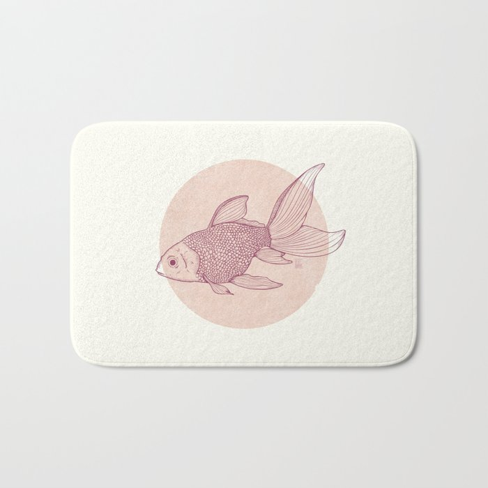 Lonely Goldfish Bath Mat