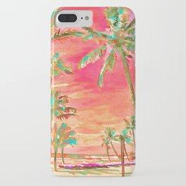 Vintage Hawaiian Beach, Mauna Lani Bay iPhone Case