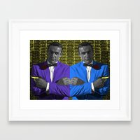 bond Framed Art Prints featuring Bond by POP Prints by FMcLaws
