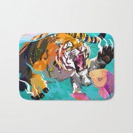 Hunting tiger Bath Mat