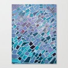 Crashing Waves Mosaic Canvas Print