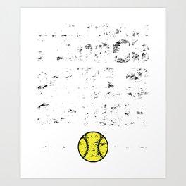 Softball Coach - Funny  Art Print