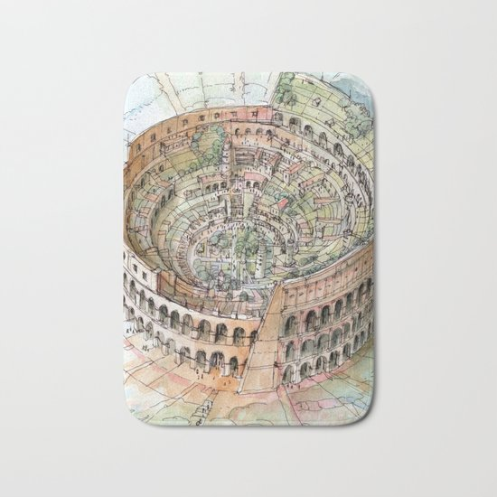 The Colosseo City Bath Mat