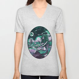 Mermaid Siren Pearl of atlantis mythology Unisex V-Neck