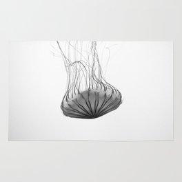 Black and White Jellyfish Rug