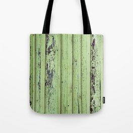 Rustic mint green grunge wood panels Tote Bag