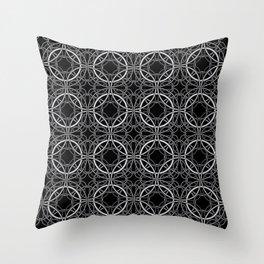Rondo Black Throw Pillow