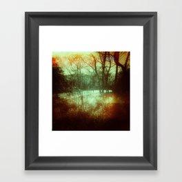 Light Leak Forrest Framed Art Print