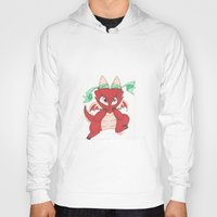 magic the gathering Hoodies featuring Chibi Red Dragon Magic the Gathering Token by Deadlance