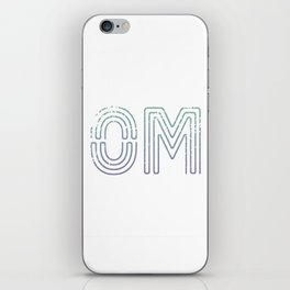 OM - Teal To Purple Palette iPhone Skin