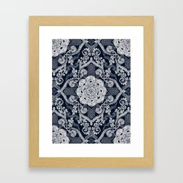 Centered Lace - Dark Framed Art Print