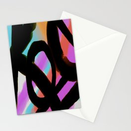 Funky Abstract Digital Painting Stationery Cards
