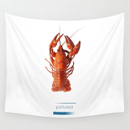 Polluted - Crawfish Lobster Wall Tapestry