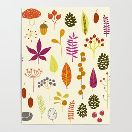Fall Autumn Nature Forest Bits Poster