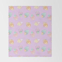 Pastel Melted Ice Cream (Lavender) Throw Blanket