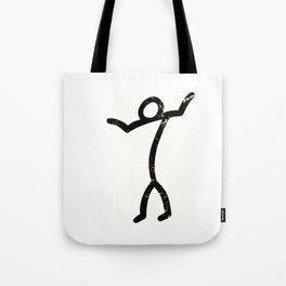 """Stick-man """"I Dunno."""" by Area 39 Art Tote Bag"""