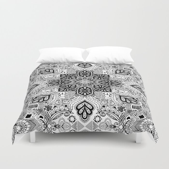 Gypsy Lace in Monochrome Duvet Cover