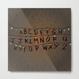 Christmas bulbs alphabet Metal Print