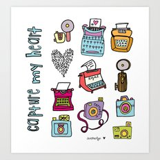 Capture My Heart  Art Print