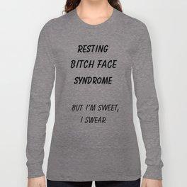 resting bitch face Long Sleeve T-shirt